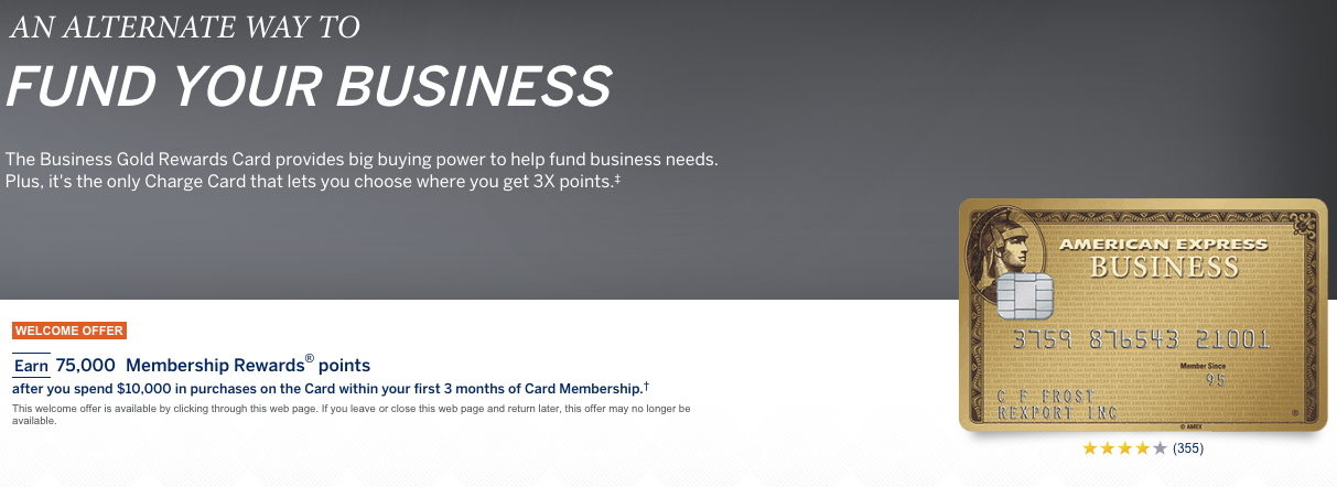 A new card in my wallet: The AMEX Business Gold   Gate B3